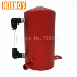 "Wholesale performance tank - New Aluminum Polished 13mm 1 2"" high-performance Racing Reservoir Tank Oil Catch Can  Tank Red Black Silver"