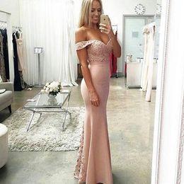 Wholesale Arabic Style Long Dresses - Long Prom Dress 2017 Mermaid Formal Evening Party Gowns Cap Sleeve Lace Ladies Lace Arabic Style Lovely Evening Dresses robe de soiree