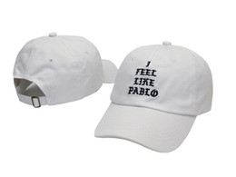 Wholesale Driver Caps Hats - Adjustable hats Strapback hat baseball Cap Curved Brim i feel like pablo Caps Village truck driver Hats