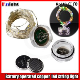 Wholesale Wholesale Copper Coins - new arrival coin battery operated led string light 2M 3M 4M 5M 10M Copper wire led fairy string light for wed party flower arrangement 10set
