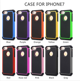 Wholesale Iphone 5c Case Lining - For s8 football line pattern case Hybrid robot 3 in 1 Armor cases cover For iphone 4s 5 5s 5c 6 7 plus Samsung S4 S5 S6 s7 s8 plus note 5 4