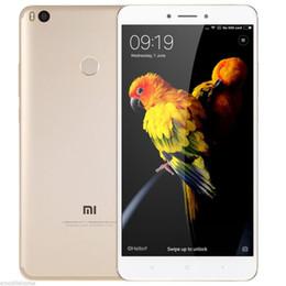 Wholesale 12mp Tv - Unlocked Original Xiaomi Mi Max 2 Max2 Mobile Phone 4GB RAM 64GB ROM Snapdragon 625 Octa Core 6.44inch 12MP Fingerprint 4G LTE Cell Phone