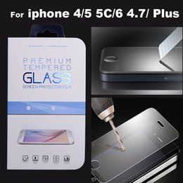 Wholesale Screen Protectors For Iphone 5c - For iphone 7 6 6S Plus Premium Tempered Glass Film Screen Protector for iPhone6 6plus 4S 5 5S 5C
