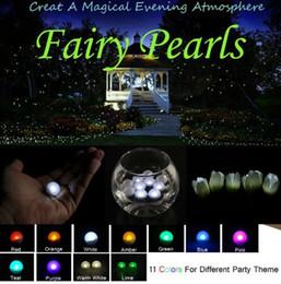 Pequeña batería impermeable led online-Fairy LED Pearls! (10pcs / Lot) Decoración de la boda 2 CM Mini colorido pequeña batería Led impermeable LED luces mini bola de luz