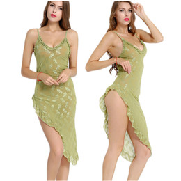 оптовый соблазн Скидка Оптовая продажа-женские ночные рубашки пижамы сексуальное женское белье искушение зеленое платье мягкие ночные пижамы халат сексуальное нижнее белье сексуальная форма