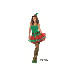 Wholesale Hot Sexy Santa - Hot Fashion Wholesale Sexy Santa Claus Green Christmas Costumes Adult Womens Dropshipping Cosplay Fancy Dress