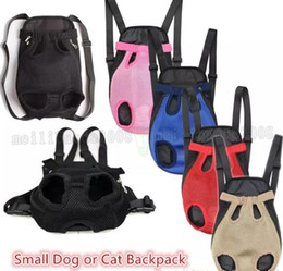 Wholesale Red Harness - Pet supplies Dog Carrier small dog and cat backpacks outdoor travel dog totes 6 colors free shipping MYY