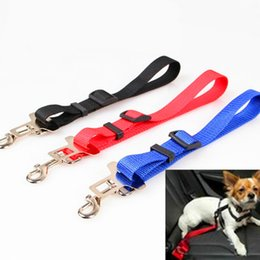 Wholesale Restraint Collar - Hot Selling Adjustable Practical Dog Pet Car Safety Leash Seat Belt Harness Restraint Collar Leads Travel Clip