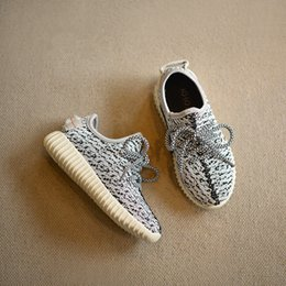 Wholesale Girls Sports Shoes Size 36 - Boys and Girls Shoes 2016 New Kids 350 Running Shoes Snakers Kanye West 350 boost Baby Fashion sport Shoes Size:26-36