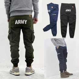 Wholesale Military Cargo Men Pant - Wholesale-2016 Multi-Pocket Solid ARMY Mens Cargo Pants High Quality Skateboard Loose Joggers Military Army Plus Size Men Trousers