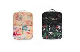 Wholesale gadget shoes - Travel shoe bag laminated polyester two layers organizer pack tourism shoes, gadgets storage tote bag 2 patterns