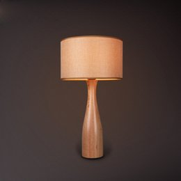Wholesale Light Cloth Clothing - Wood Art Lighting Fixture Northern Europe Clothes Shop Modern Creative Living Room Bedroom Bedside Table Lamp