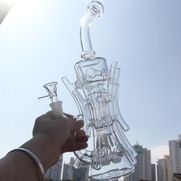 Wholesale Watering Root - Two function New recycler glass bong hot bongs roots TORO water pipe boro bong Hill side glass oil rig break dab dabs recycler Killa glass