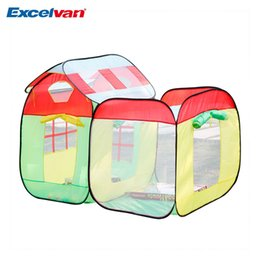 Wholesale Marine Ball Toy - Wholesale-Excelvan 2 in 1 kids Toddlers Pop-up Play Tent Colorful Playhouse Set Portable Folding with Marine Balls Tent Game Toy