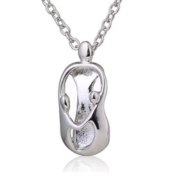 Wholesale Mother Daughter Jewelry Pendants - Fashion Mother's Day Gift Mother Daughter Mom Baby Child Family Love Rhinestone Heart-shaped Pendant Necklace For Mum Jewelry