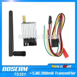 Wholesale Rc Range - Boscam 5.8G Video 200mW AV Audio Video TX Wireless Transmitter Sender FPV 2.0Km Range TS351 For RC Car MultiCopter