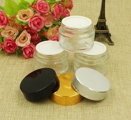 Canada 30g crème bouteille, en gros 30g verre clair rechargeable pots cosmétiques émulsion visage vide 100pcs / lot par DHL livraison gratuite Offre