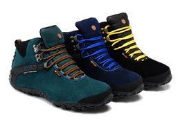 Wholesale Mountain High Boots - Men winter outdoor cow leather plush ankle snow Martin Boots big size High top mountain climbing trekking work tooling safety shoe,38-46