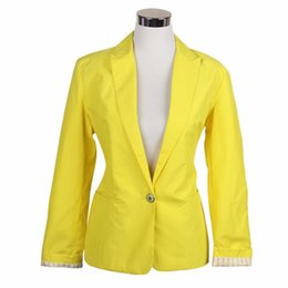 Wholesale One Button Slim Female Jacket - Global explosion models one buckle female jacket European style candy-colored suit jacket Slim Jacket Women