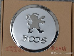 Wholesale Tank Stickers For Car - For 2013-2015 Peugeot 3008 fuel tank cover special modified Peugeot 308 308S 2008 3008 car stainless steel tank cover Car decoration