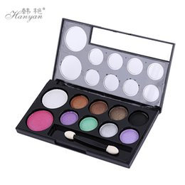 Wholesale Eyeshadow Smoked - Han Yan genuine wholesale 10 Color Eyeshadow Eyeshadow makeup color pearl diamond disc retro smoked earth
