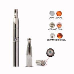 Wholesale Skillet Vaporizer Pen - E cigarette wax vaporizer kit puffco Skillet vape pen kit with dual ceramic coil dual quartz coil ceramic donut coil W6 vaporizer