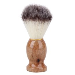 Wholesale Shaving Brush Handles - 10pcs Shaving Brush Badger Hair Men Barber Salon Men Facial Beard Cleaning Appliance Shave Tool Razor Brush Wood Handle for Men