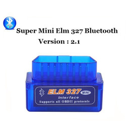 Wholesale Actron Reader - Latest Version V2.1 Super mini elm327 Bluetooth OBDii   OBD2 Wireless Mini elm 327 Works on Android Torque In stock