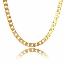 """Wholesale Massive Necklaces - Massive Mens Chain 18k Yellow Gold Filled Mens Necklace Accessories Gift 24"""""""