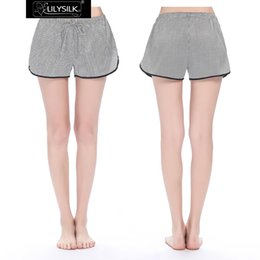 Wholesale Sexy Clothes For Women Sleep - Wholesale-Lilysilk Shorts Women 100% Silk Satin 19 momme Swallow Gird Summer Clothes Hot Pants Female Mujer Elegant Athletic For Sleeping