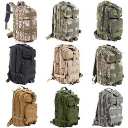 Wholesale Wholesale Military Backpacks - 30pcs High Quality 30L Hiking Camping Bag Military Tactical Trekking Rucksack Backpack Camouflage Molle Rucksacks Attack Backpacks