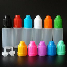 Wholesale Eye Drop Plastic - 10ml Eye drop bottle LDPE Soft Style Plastic Dropper Bottles with Childproof Caps and long thin tip for E liquid E juice