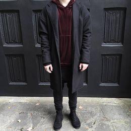 Wholesale South Korea Men S Fashion - Wholesale- high fashion mens South Korea Hip hop The cloth sleeve Justin Bieber JUSTIN BIEBER OVERCOAT jackets and coats gd clothing M-XL