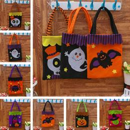 Wholesale cat party favors - New Halloween Gift Bag Pumpkin Handbag Candy Ghost Cat Halloween Decoration Bag Handbag Party Favors IC695