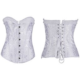 Wholesale Large Women G String - Wholesale-2016 Plus Size XS-6XL Steel Bone New Sexy Lingerie Lace Corset Top + G-string Costume Large Size Clothes For Women 6XL