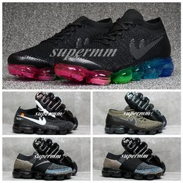 Wholesale Best Low Cut Casual Shoes - Original Quality 2018 BeTrue VAPORMAX OFF x WHITE Rainbow Gold Retro Best Sports Women Men Running Shoes Casual Outdoor Weave Sneakers