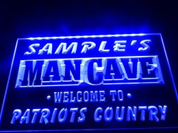 Wholesale Country Offices - DZ036b- Name Personalized Custom Man Cave Patriots Country Pub Bar Beer LED Neon Beer Sign