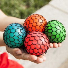 Wholesale Mesh Squeeze Ball - Plastic Vent Toy Soft Fruit Grape Stress Reliever Ball Novelty Squeeze Mesh Squish Balls Toys Hot Sale 1 3jr2 B