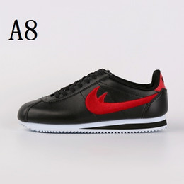 Wholesale Hard Nylons - Top Quality 2017 men women Classic cortez NYLON PRM shoes upgrade Leather embroidered shoes breathable fashion racers Size36-44