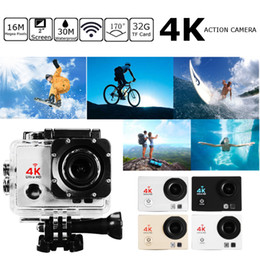 Wholesale Mini Wide Angle Cameras - WiFi 1080p 16mp 4K Ultra HD Sports Action Camera Waterproof 170 Degree Wide Angle 2 Inch LCD Cam Camcorder Mini DV DVR