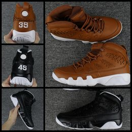 Wholesale Eva Balls - Mens 9 Men Pinnacle Basketball Glove shoes Black brown number 35 45 9s Basket Ball Sports Sneaker Trainers Shoes