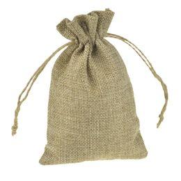 Sacchi personalizzati online-Sacchetti di iuta Gfit molti formati Sacco di iuta Logo personalizzato Sacchetti con coulisse in gioielli vintage Confezione porta bomboniera