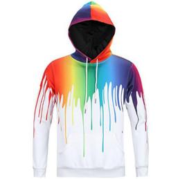 Европа и Соединенные Штаты Америки новый балахон 3D мужская толстовка искусство граффити спрей живопись шаблон творческий пуловер от