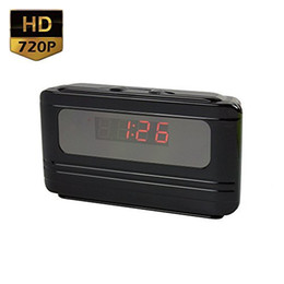 Wholesale Motion Activated Spy Camera Clock - 720P HD H.264 Motion Activated Mini Alarm Clock Spy Camera (Nanny Cam)
