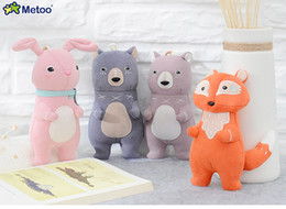 Wholesale Metoo Cartoon - Metoo Forest Three Swordsmen Stuffed Baby Plush Doll Little PP Cotton Animals Toys Children Birthday Christmas Pendant Gift
