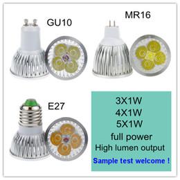 Canada La puissance élevée CREE a mené la lampe 3W 4W 5W GU10 MR16 E27 de lumière menée par tache menée l'ampoule d'éclairage de downlight Offre