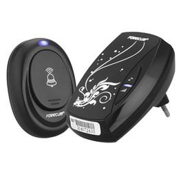 Wholesale Black Door Knobs - Waterproof Black Doorbell EU Plug-in 220V AC Digital LED Music 100M Range Wireless Remote Control Home Door Bell 5076 <$18 no tracking