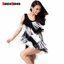 Wholesale Dress Samba Dancing - Two-Color Tassel Latin Dance Skirts Samba Costumes Dance Dress For Women Stage And Dance Wear