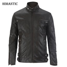 Wholesale Jaqueta Couro Masculino - Wholesale- Leather Jacket Men chaqueta Jaqueta Couro Masculino Bomber Leather Jackets Coat Motorcycle Jackets jaqueta de couro masculina