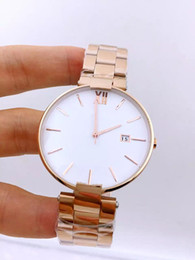 Wholesale Watch Couple Rose Gold - 2016 new men's women's stainless steel watch high-quality luxury brand watches rose gold full waterproof couple watches student table